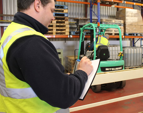 On Site Forklift Truck Operator Evaluation